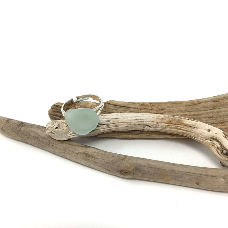 Seaglass Blue Ring