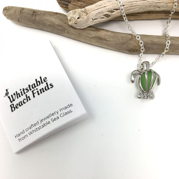 Turtle and Seaglass Necklace