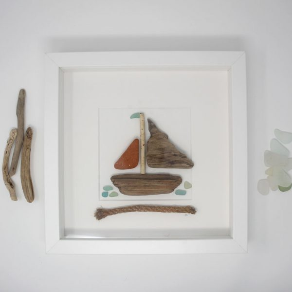 Pottery and Driftwood Boat
