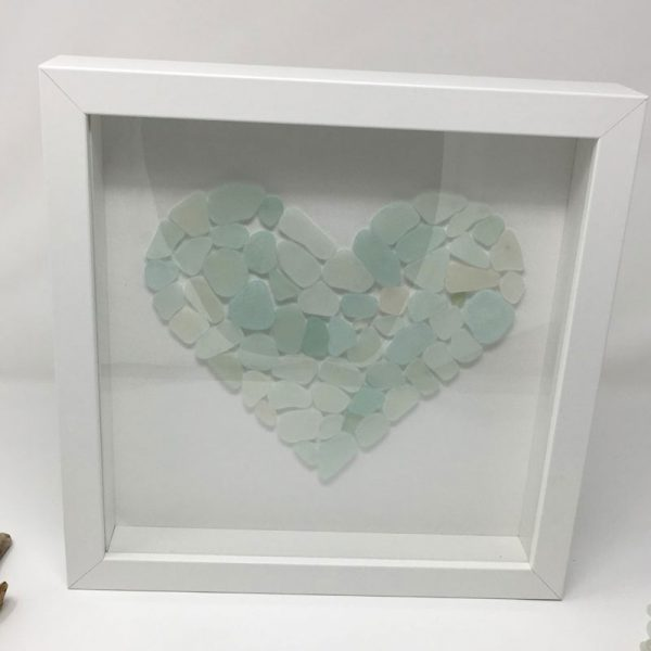 Seaglass Love Heart Wall Art