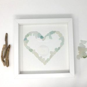 Seaglass love heart