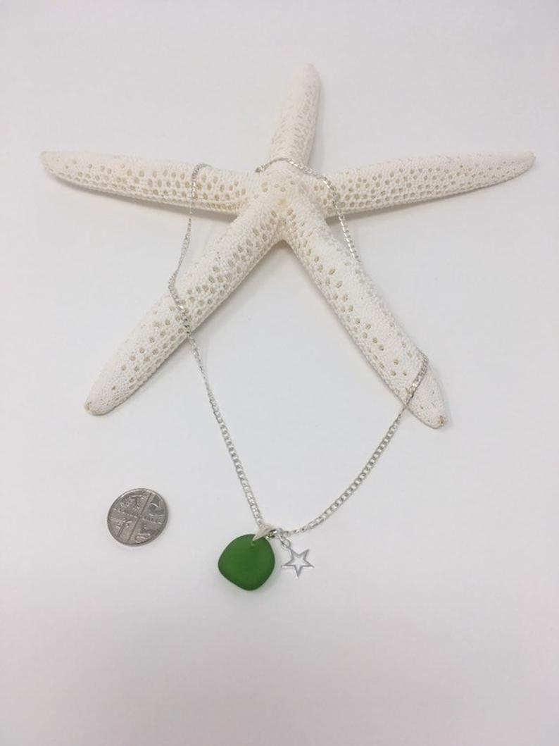 Seaglass and Star Charm Necklace