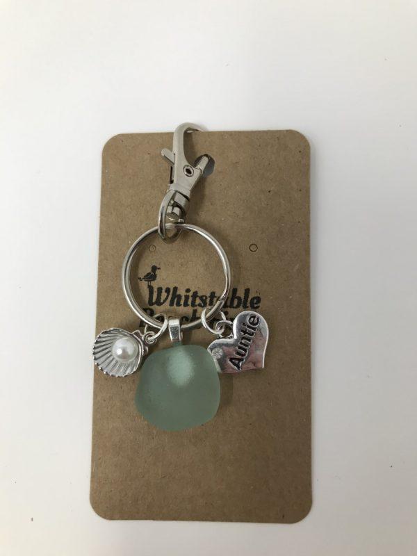 Auntie Sea glass Keyring