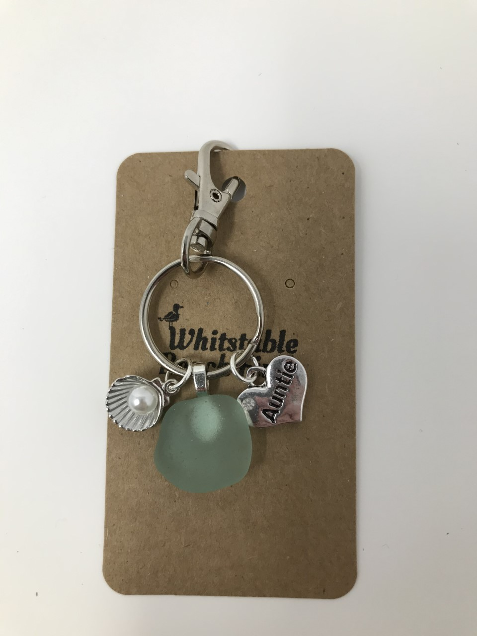 Auntie Sea glass Keyring