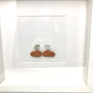 Seaglass and Sea Brick Bird Art