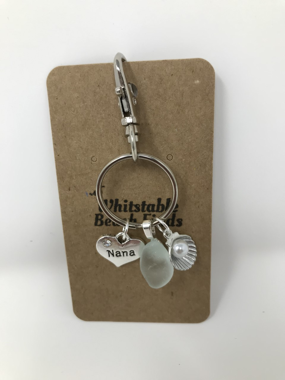 Nana Sea Glass Keyring