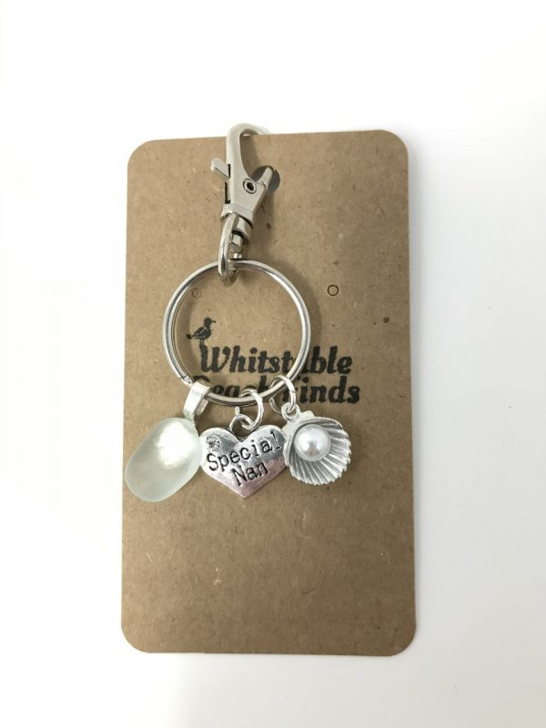 Special Nan Sea Glass Keyring
