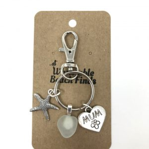 Sea glass Keyring